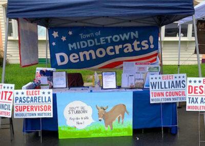 Democrats Booth at Fleischmanns Street Fair